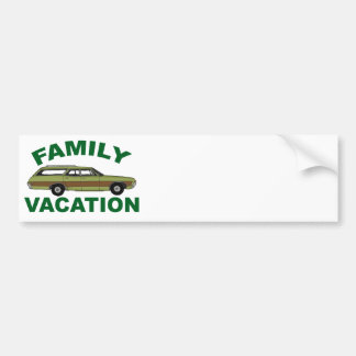 80s Family Vacation Bumper Sticker