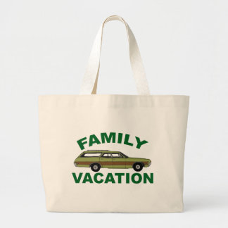 80s Family Vacation Large Tote Bag