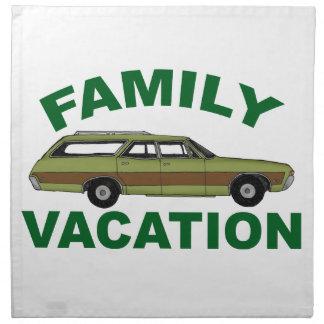 80s Family Vacation Napkin