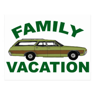 80s Family Vacation Postcard