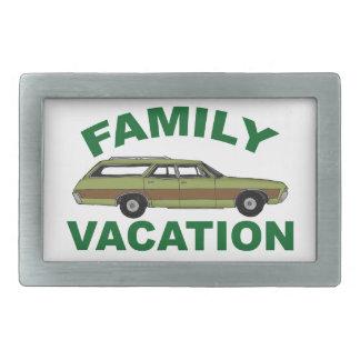 80s Family Vacation Rectangular Belt Buckle