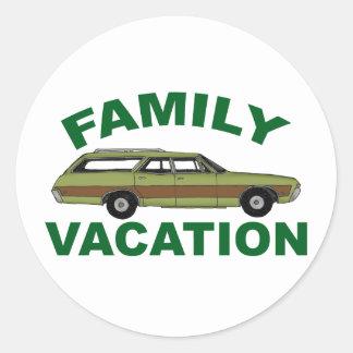 80s Family Vacation Round Sticker