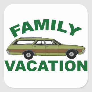 80s Family Vacation Square Sticker