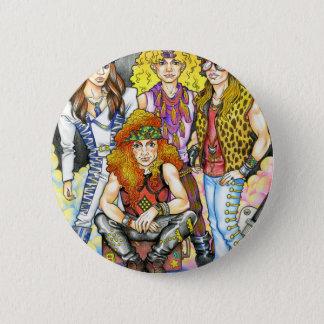 80s Hairband - 80s Retro 6 Cm Round Badge
