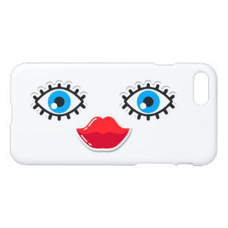 80's Icons Eyes and Lips iPhone 7 Case