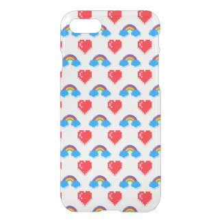 80's Icons Rainbow and Hearts iPhone 7 Case