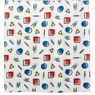 80's Memphis Abstract Style Shower Curtain