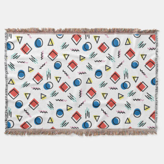 80's Memphis Abstract Style Throw Blanket