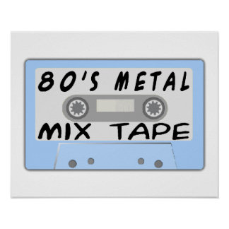 80s Metal Mix Tape Cassette Print