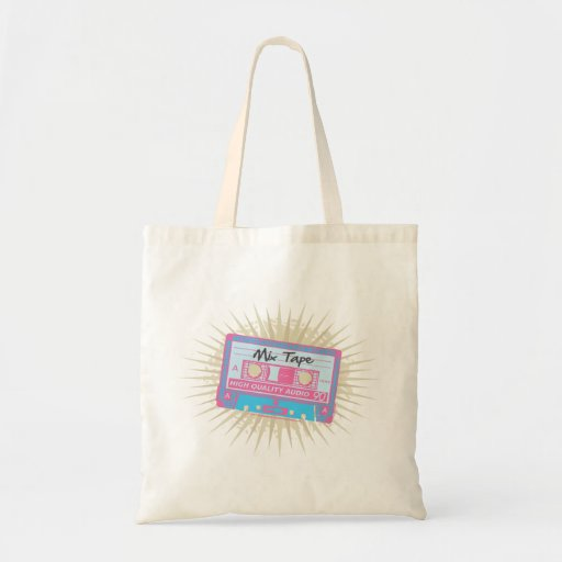 80's Mix Tape Budget Tote Bag