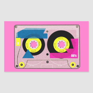 80's Mix tape Rectangular Sticker