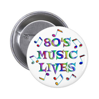 80s Music Lives 6 Cm Round Badge