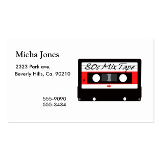 80s Music Mix Tape Cassette Double-Sided Standard Business Cards (Pack Of 100)