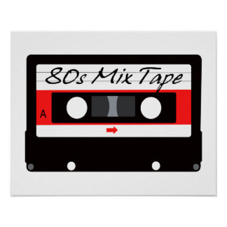 80s Music Mix Tape Cassette Poster