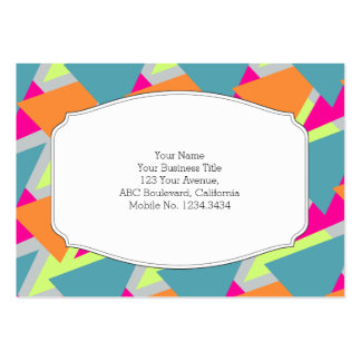 80's Neon Geometric Pattern Pack Of Chubby Business Cards
