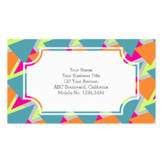 80's Neon Geometric Pattern Pack Of Standard Business Cards