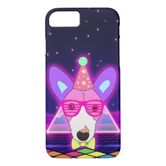 80s Neon Jack Russell iPhone 8/7 Case
