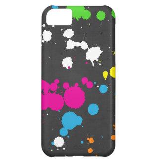 80's Neon Paint Splatter Case For iPhone 5C