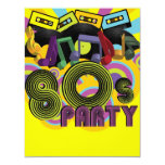 "80s Party 4.25"" X 5.5"" Invitation Card"