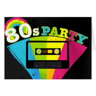 80s Party Background Card