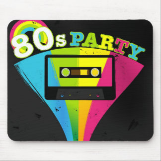 80s Party Background Mouse Pad