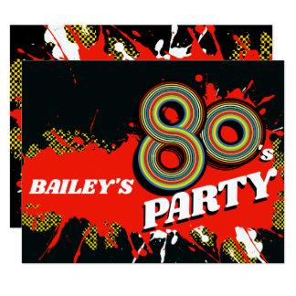80's Party birthday or event retro invitations