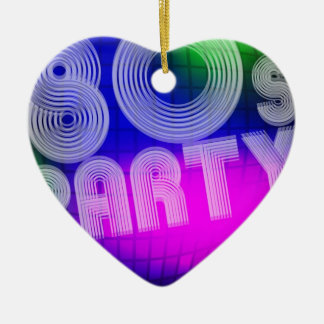 80s Party Ceramic Heart Decoration