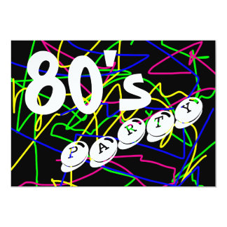 80's Party - Crazy & Colorful Squiggles Card