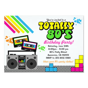 80s Party Invitations Announcements Zazzlecomau