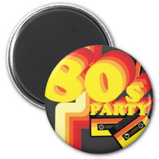 80s Party Refrigerator Magnets