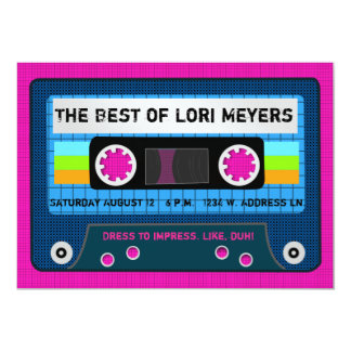 80's Party The Best of Mix Tape Card