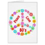 80s Peace Love Cards