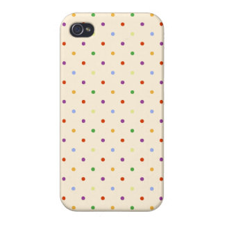 80s petite rainbow girly cute polka dots pattern iPhone 4/4S case