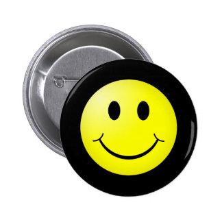 80s Pop Culture Yellow Smiley Emoticon 6 Cm Round Badge