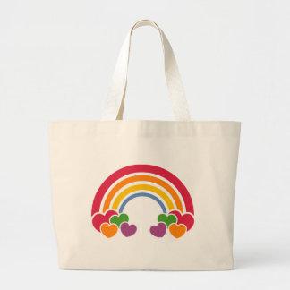80's Rainbow & Hearts Bag