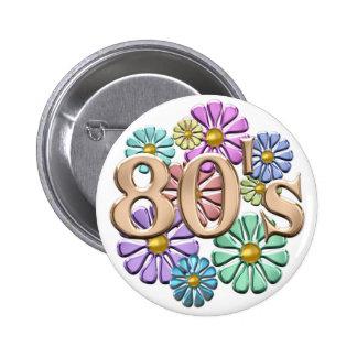 80s Retro 6 Cm Round Badge
