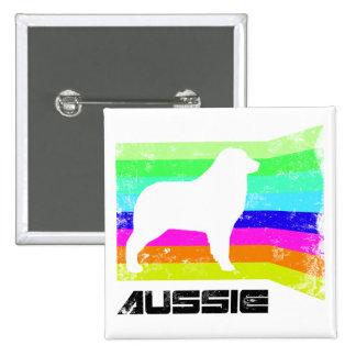 80's Retro Aussie 15 Cm Square Badge