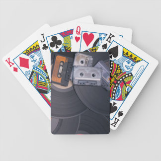 80's Retro Cassette Tapes and Vinyl Records Bicycle Playing Cards