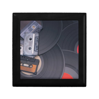 80's Retro Cassette Tapes and Vinyl Records Gift Box