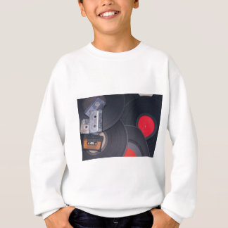 80's Retro Cassette Tapes and Vinyl Records Sweatshirt