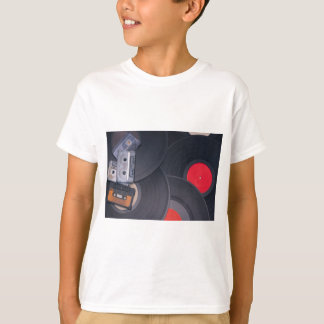 80's Retro Cassette Tapes and Vinyl Records T-Shirt