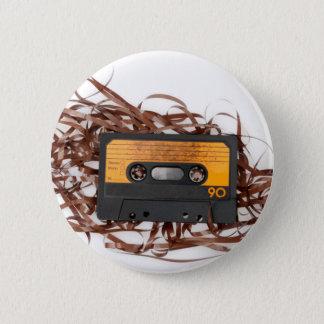 80's Retro Design - Audio Cassette Tape 6 Cm Round Badge