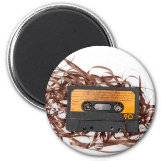 80's Retro Design - Audio Cassette Tape 6 Cm Round Magnet