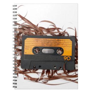 80's Retro Design - Audio Cassette Tape Notebooks