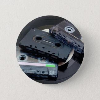 80's Retro Design - Audio Cassette Tapes 6 Cm Round Badge