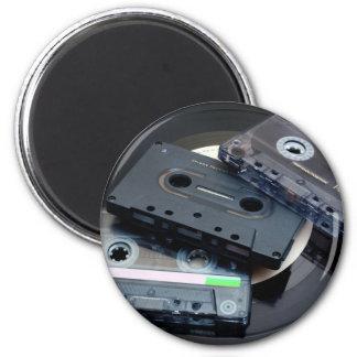 80's Retro Design - Audio Cassette Tapes 6 Cm Round Magnet