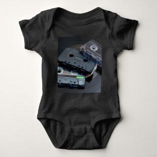 80's Retro Design - Audio Cassette Tapes Baby Bodysuit