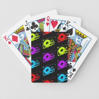80's Retro Design - Audio Cassette Tapes Bicycle Playing Cards