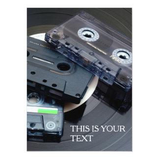 80's Retro Design - Audio Cassette Tapes Card
