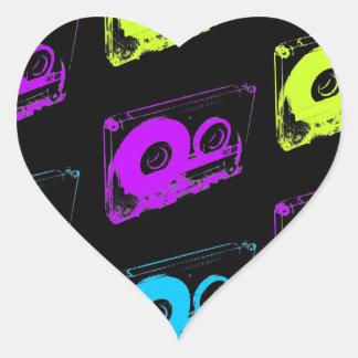 80's Retro Design - Audio Cassette Tapes Heart Sticker